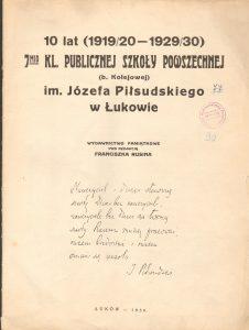 sygn.587 Józef Piłsudski